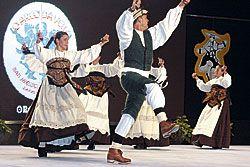 Festival Folclórico Internacional del Emigrante en Barreiros (Lugo).