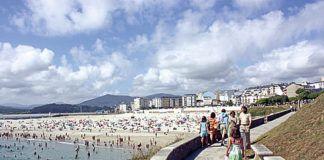 Playa A Rapadoira, en Foz.
