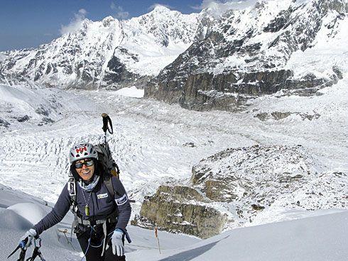 Rosa Fernández ante su último gran reto el pasado mes de mayo, el Kangchenjunga: 8.586 m.