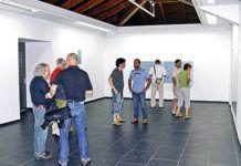 """Interior de la Sala de Exposición """"As Quintas""""."""