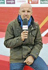 Juanmari Guajardo. Speaker de La Vuelta.