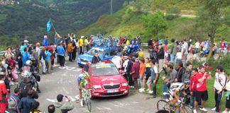 La Vuelta Ciclista a España, en la etapa del Alto de L'Angliru