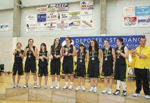 Uno de los equipos femeninos del Club Baloncesto Vegadeo, la temporada 2010/2011