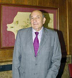 Francisco Menéndez Díaz. Presidente de la Cámara Oficial de Comercio, Industria y Navegación de Avilés