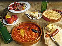 Bodegón de productos asturianos