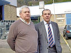 Víctor Menéndez y Angel Villabrille, presidente y vicepresidente de ASPEFA