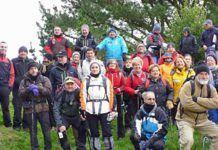 Integrantes del Grupo de Montaña La Chiruca (Cudillero) en la Ruta Pico Fario y Peña 4 Jueces.