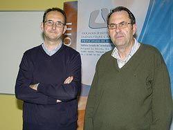 Juan Díaz, gerente y César García, presidente de Asincar
