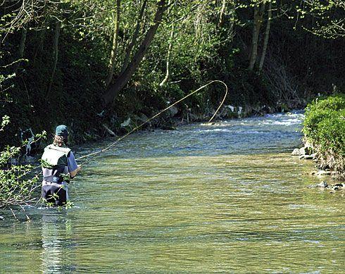 Pescador en Riosa