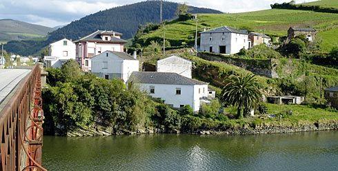 Ría del Eo a la entrada de Vegadeo