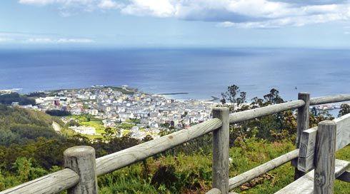 Vista de Burela desde el Mirador Monte Castelo.