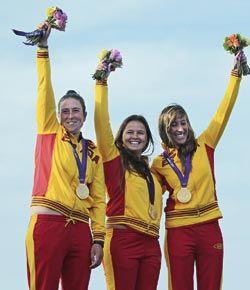 Ángela Pumariega. Ganadora del oro olímpico en vela.