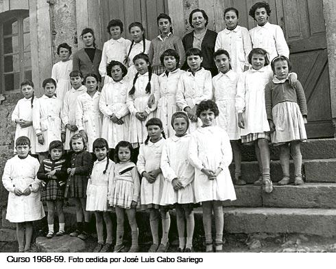 Riosa en la memoria. Curso 1958-59.