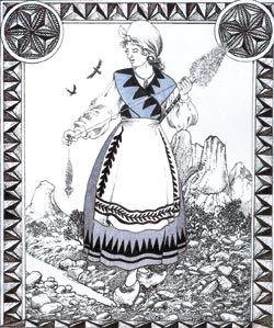 El mito de la filandera. Mitología asturiana.