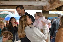 Visita de ls Príncipes de Asturias  a Bueño el pasado mes de octubre.