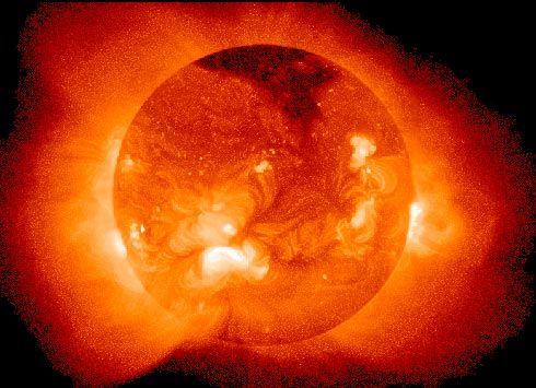 Tormenta solar.