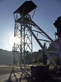 Castillete minero