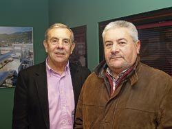 Víctor Menéndez y Angel Villabrille, presidente y vicepresidente de ASPEFA (Asociación de propietarios y empresarios del Polígono de Falmuria), Carreño
