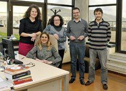 Parte del equipo de RegioLab, el laboratorio de la economía asturiana.