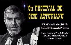 Octavu Festival de Cine Asturianu. Homenaxe a Frank Braña.
