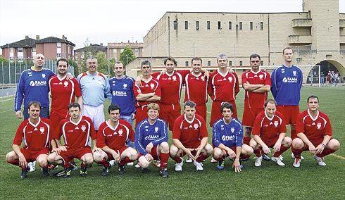 Equipo de veteranos del Ribadeo F.C.