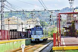 Linea de tren de cercanías del Berrón