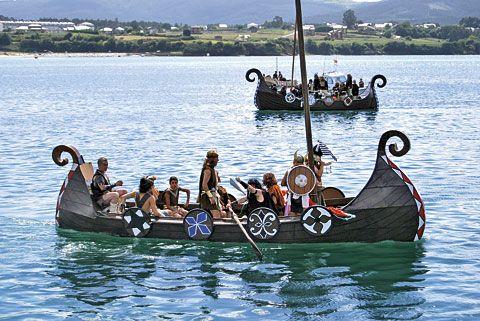 Naves vikingas en la Ría de Foz