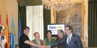 Firma del convenio de Gijón mÁs
