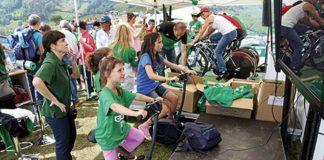 La Bicicleta Solidaria, un éxito en la Vuelta.
