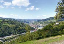 Vista de El Entrego, en el Valle del Nalón