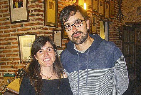 Daniel Álvarez y Laura Sandoval de Editorial Hoja de Lata