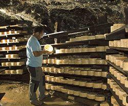 Cueva de quesos en Picos de Europa.