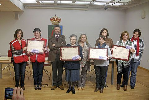 Entrega de galardones en el día de la Mujer rural, el pasado mes de octubre en Navia