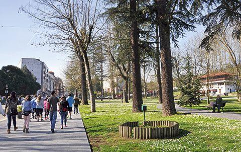 Parque de Manuel Pedregal, en Grado.
