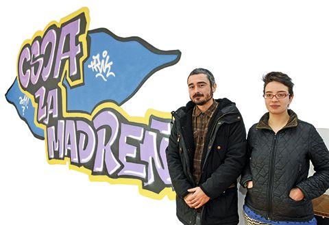 César y Rosa, en el Centro social La Madreña