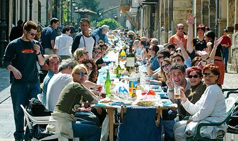 Comida en la calle en Avilés