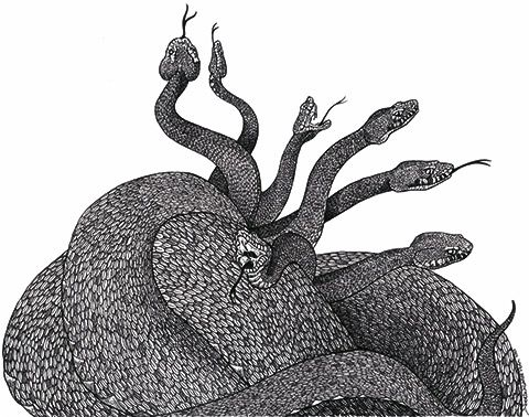 Serpientes de siete cabezas
