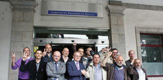 17-4-2014: Participantes de la reunión en Industria sobre Tenneco