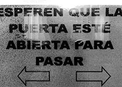 Cartel en Burgos.