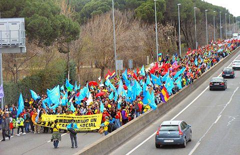 Colectivos asturianos en la Marcha de la Manifestación del 22 de marzo