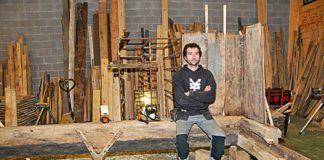 Gonzalo García en su taller