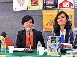 Presentación a cargo de Ángeles González-Sinde en la Feria del Libro de Navia