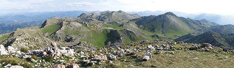 Vista de la Sierra del Aramo desde el pico Gamonal