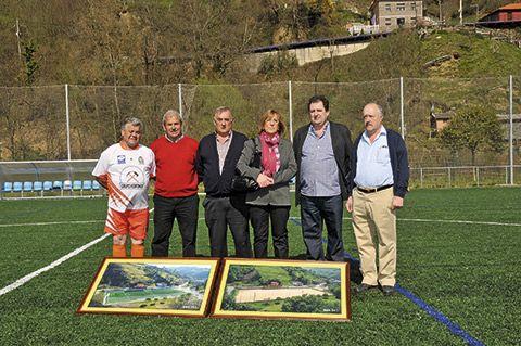 Presidentes que han pasado por el CD Riosa. A la izda., Toño Villarejo.