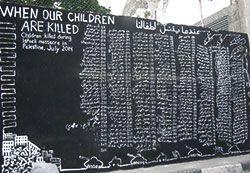 Lista de niños palestinos asesinados por Israel, a fecha de julio de 2014