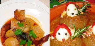 Pote de Nabos y Cebolles Rellenes