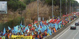 Marcha de la Dignidad. 22 de marzo, Entrando en Madrid