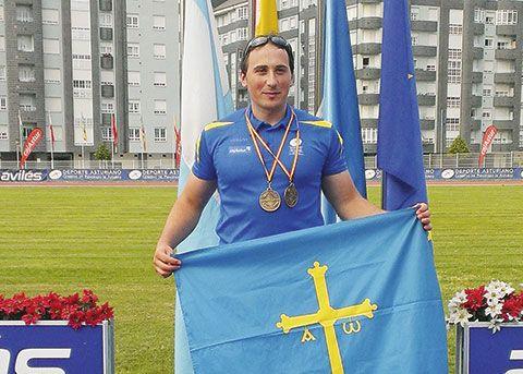David Fernández Fernández. Campeón en halterofilia y atletismo adaptados.