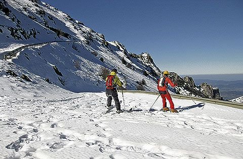 Esquí en la Sierra del Aramo