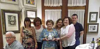 Entrega del homenaje al negocio centenario Casa Victorero por sus 100 años de vida, el pasado mes de junio